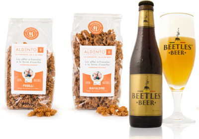 From Belgium insect pasta (Goffard sisters) and beetles beer.