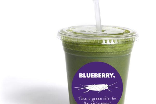 Insektssmoothien Greenplanet från Blueberry.