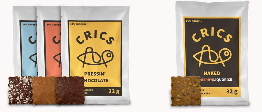 """De chokladöverdragna snacksen har nu fått sällskap av """"Crics Naked"""" """"Mer syrsor, mer protein och mindre socker."""""""