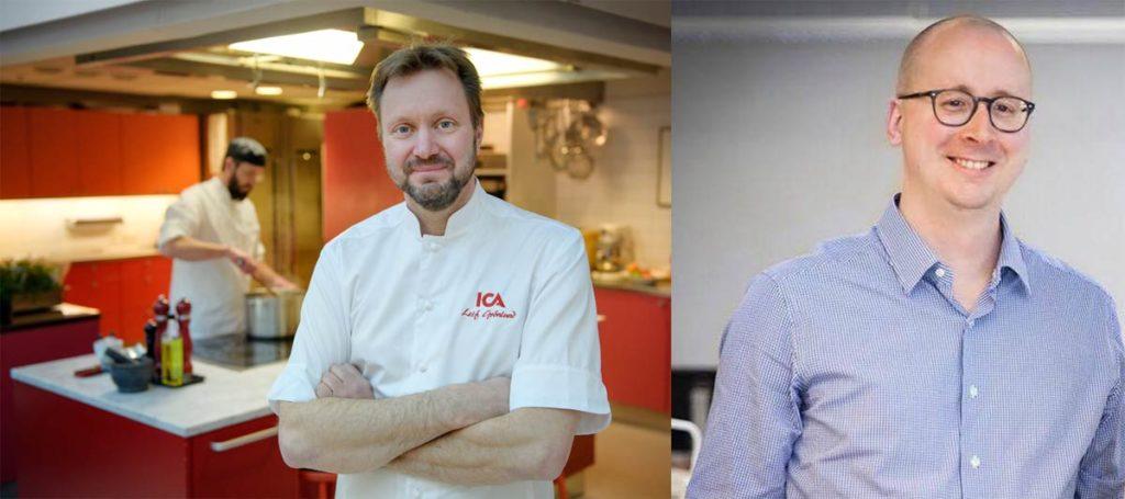 Leif Grönlund, Matkreatör ICA och Magnus Dahl på KIT Creative Studio (foto: ICA + Dan Eliasson)