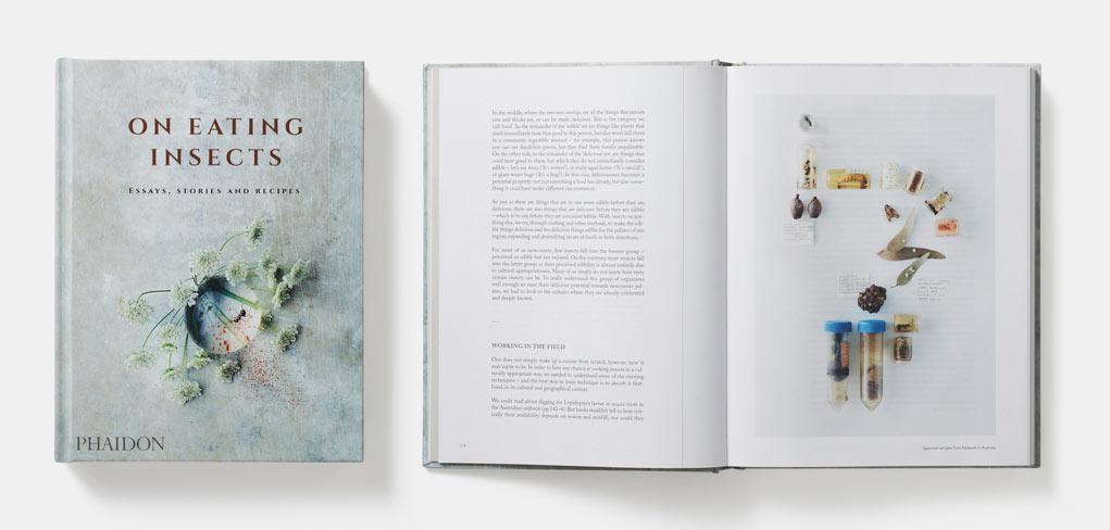 335 sidor kunskap och recept med fantastiska bilder i en bok i coffetable-book-format. On eating insects.