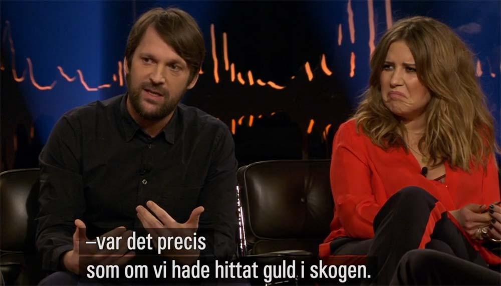 René Redzepi berättar om skogens guld, Ingebjørg Bratland verkar inte övertygad.