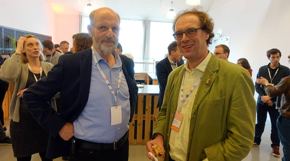 Arnold van Huis and Marcel Dicke (photo: Bugburger).