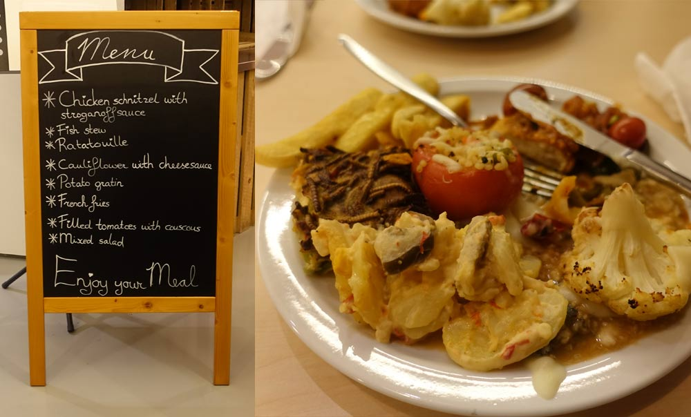 Not so bugalicous. The food at the symposium. (photo: Bugburger)