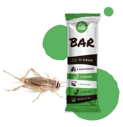 Eat:ems syrsbar innehåller hussyrsor från Global bugs. Om ansökan går igenom blir produkten tillåten i Sverige.