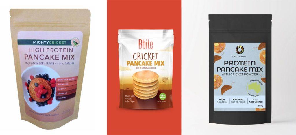 Pancake mix with crickets